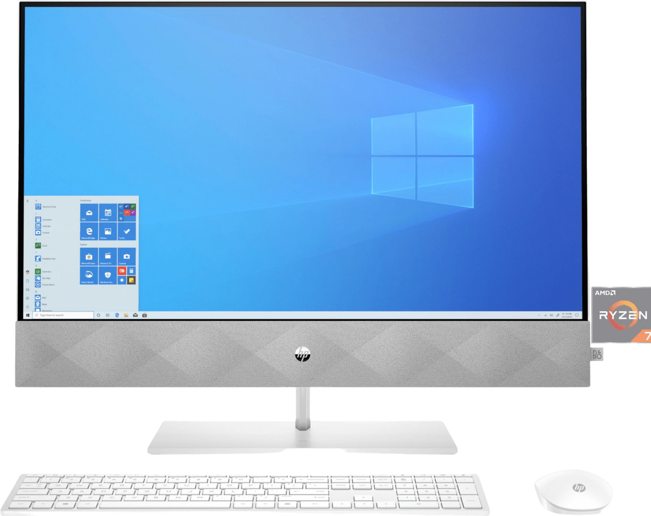Snow White HP 24-k0019ng All-in-One - AMD Ryzen™ 7 4800H - 16GB - 512GB SSD + 1TB HDD - AMD Radeon™ Graphics.1