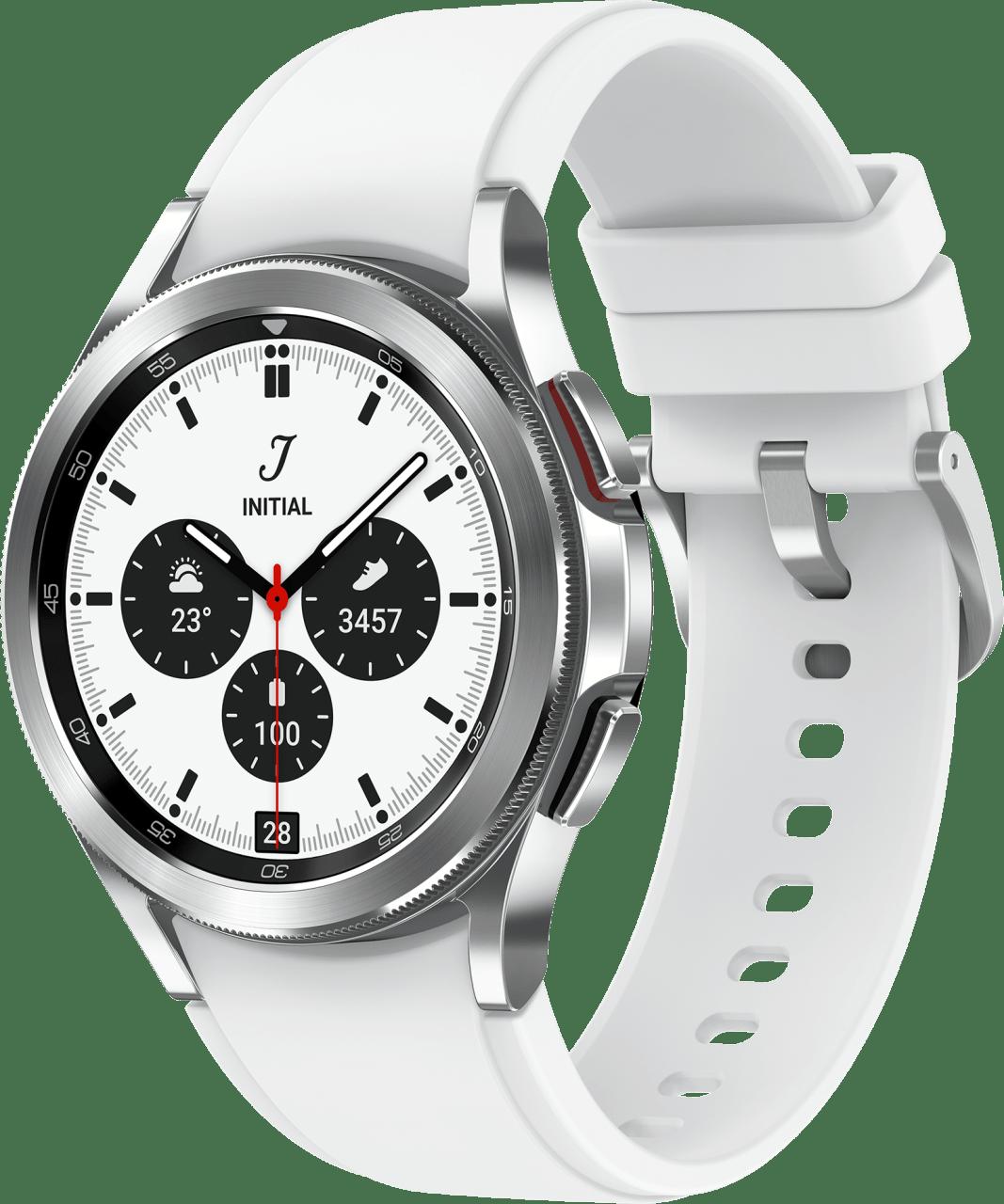 Silver Samsung Galaxy Watch4 Classic LTE, 42mm.1