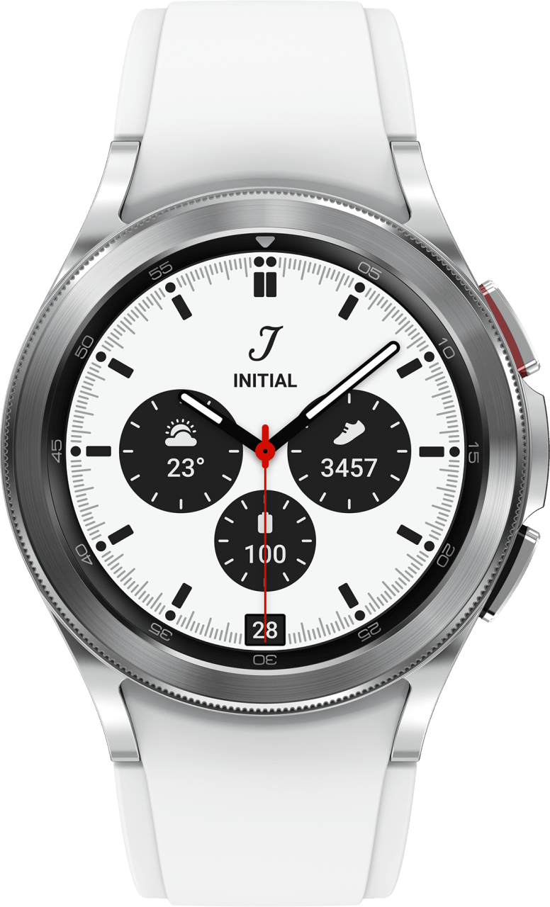 Silver Samsung Galaxy Watch4 Classic, 42mm.2