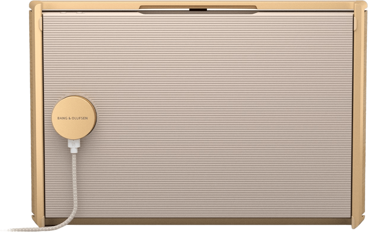 Gold Tone / Light Oak Bang & Olufsen Beosound Level Portable WiFi Speaker.5