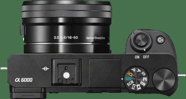 Black SONY Alpha 6000 Kit System Camera (Lens + Bag + SD Card).4