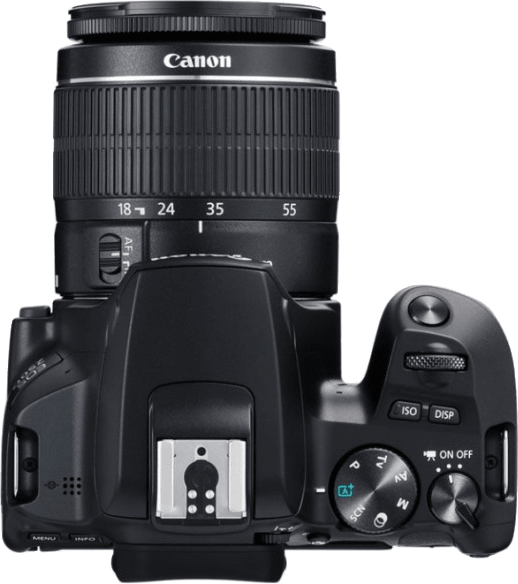 Black Canon EOS 250D System Camera + Lens Kit (EF-S 18-55mm).2