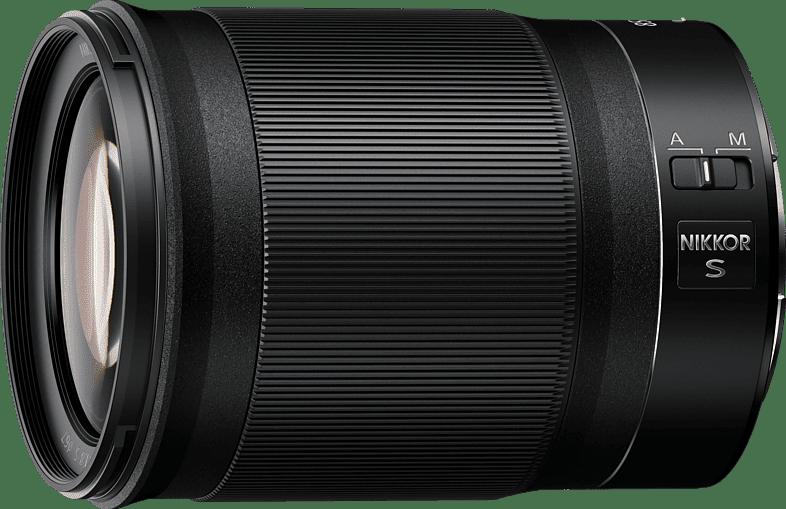 Black NIKON Z 85 mm f./1.8 ED Lens.1