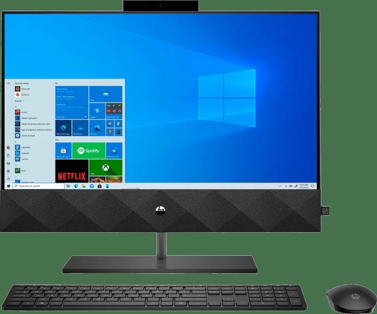 Black HP Pavilion All-In-One - Intel Core i5 - 12GB - 1TB SSD.1