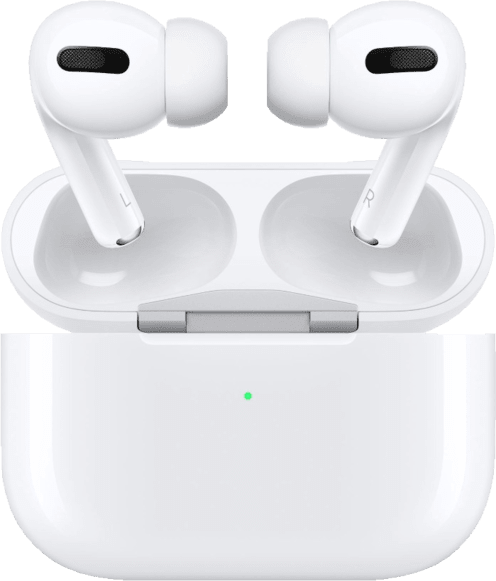 White Apple AirPods Pro with Case Noise-cancelling In-ear Bluetooth Headphones.1