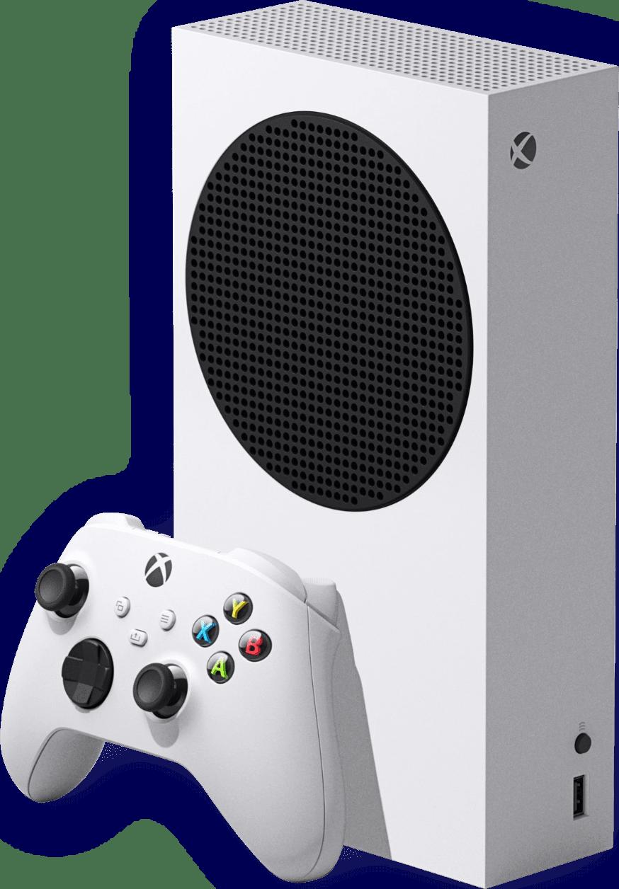 White Microsoft Xbox Series S.1