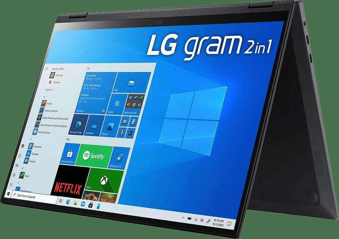 Black LG gram 16 Convertible - Intel® Core™ i7-1165G7 - 16GB - 1TB SSD - Intel® Iris® Xe Graphics.1