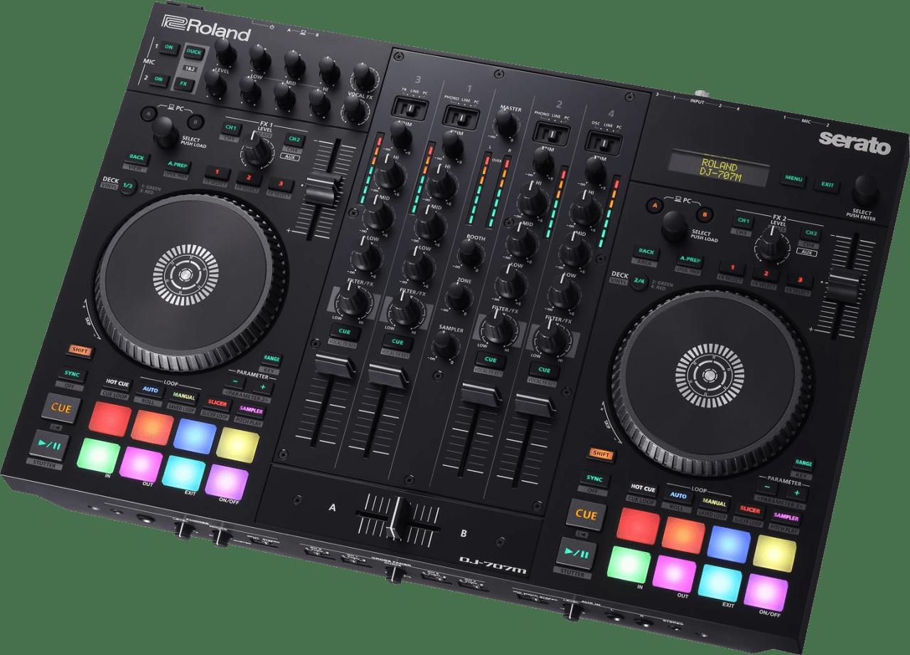 Black Roland DJ-707M DJ-controller.4