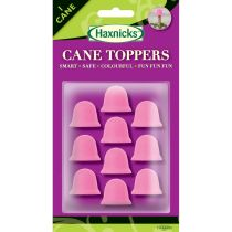 Pink Cane Toppers available in a pack of 10 from Haxnicks