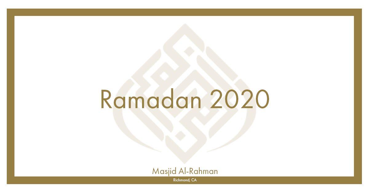 Ramadan 2020 Information