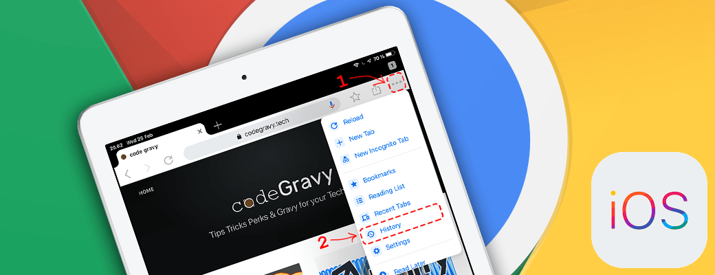 Delete browser history for individual sites in Chrome on iOS