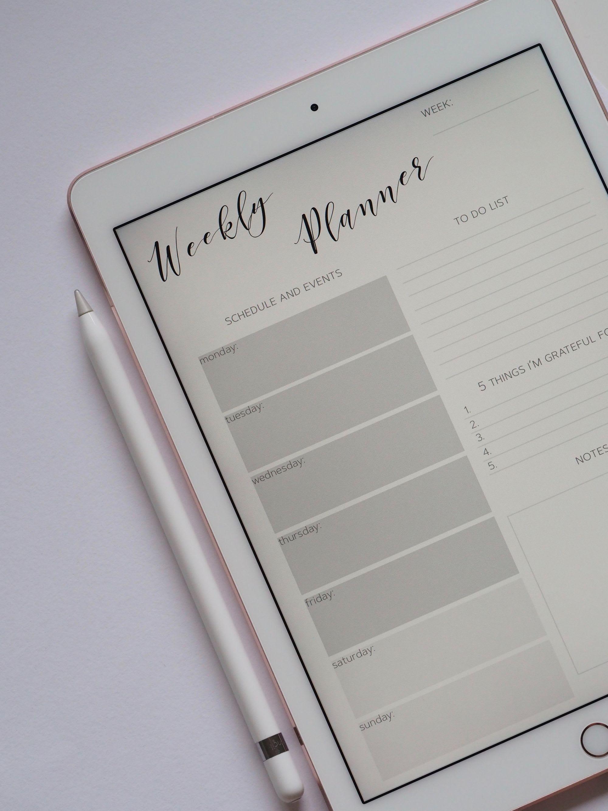 Digital bullet journaling on iPad