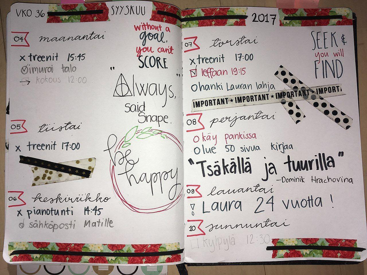 Bullet Journal Idea (Family Bullet Journal Idea)