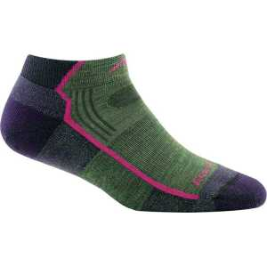 Darn Tough 1961 Womens No-Show Hiker Light Cushion Socks - Moss Heather