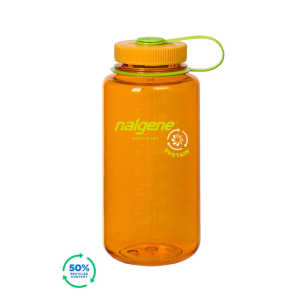 Nalgene Wide Mouth Sustain 32oz 1L Water Bottle - Clementine