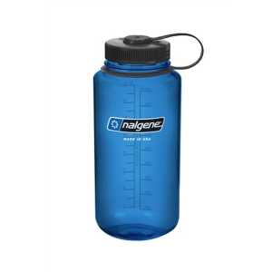 Nalgene Tritan 1 Litre (32 oz) Wide Mouth Drinking Bottle -Blue