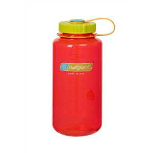 Nalgene Tritan 1 Litre (32 oz) Wide Mouth Drinking Bottle -Pomegranate