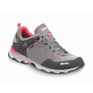Meindl Ontario Lady GTX Walking Shoes - Stone Grey/Rose