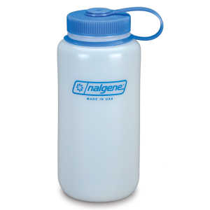 Nalgene 1 Litre HDPE Wide Mouth Drinking Bottle - White
