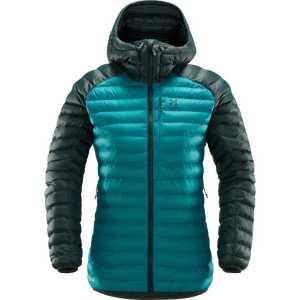 Haglofs Womens Essens Mimic Hooded Insulated Jacket - Alpine Green/Mineral