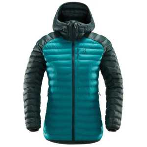 Haglofs Womens Essens Mimic Hooded Insulated Jacket - Alpine Green/Mineral - Large - Ex-Demo