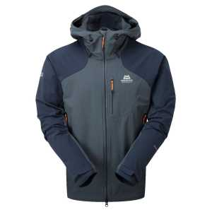 Mountain Equipment Frontier Hooded Softshell Jacket - Ombre Blue/Cosmos