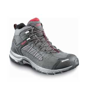 Meindl Journey Mens Mid GTX Wide Fit Walking Boots - Anthracite/Red
