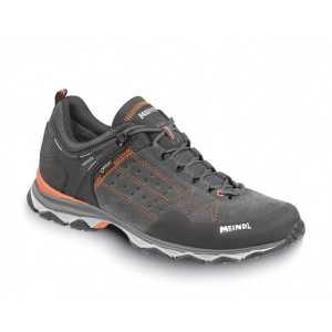 Meindl Mens Ontario GTX Walking Shoes - Grey/Orange