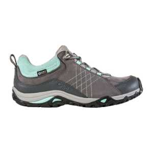 Oboz Womens Sapphire Low B-DRY Waterproof Walking Shoes - Charcoal/Beach Glass