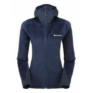 Montane Womens Wolf Hoodie Mid Layer Fleece Jacket - Antarctic Blue