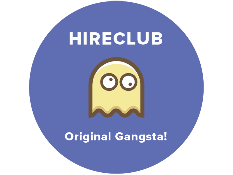 HireClub 10k Party Sticker