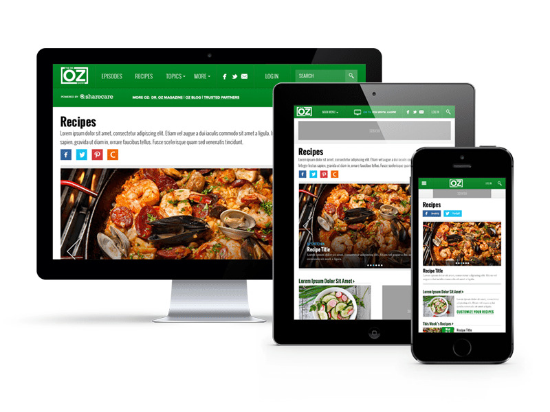 Dr. Oz Recipes Responsive Web Design