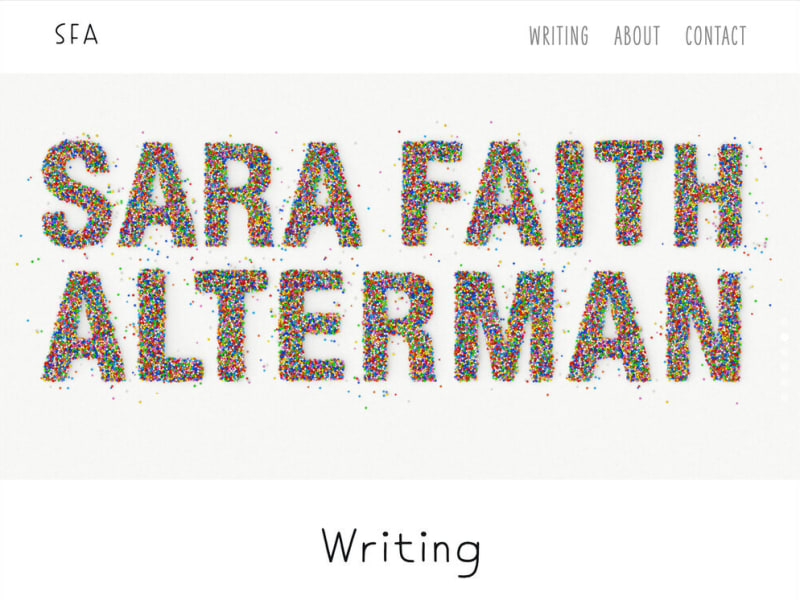 Sara Faith Alterman Website
