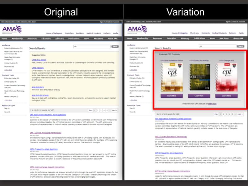 A/B testing to Improve Search