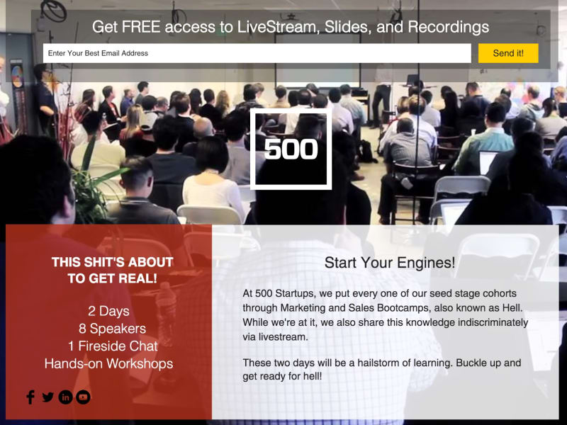 500 Startups Marketing Hell Week