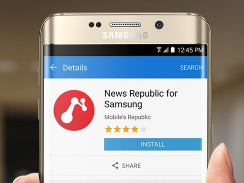 "Press release for News Republic ""Made for Samsung"" app"