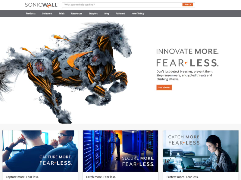 SonicWall.com Rebrand Soft Launch