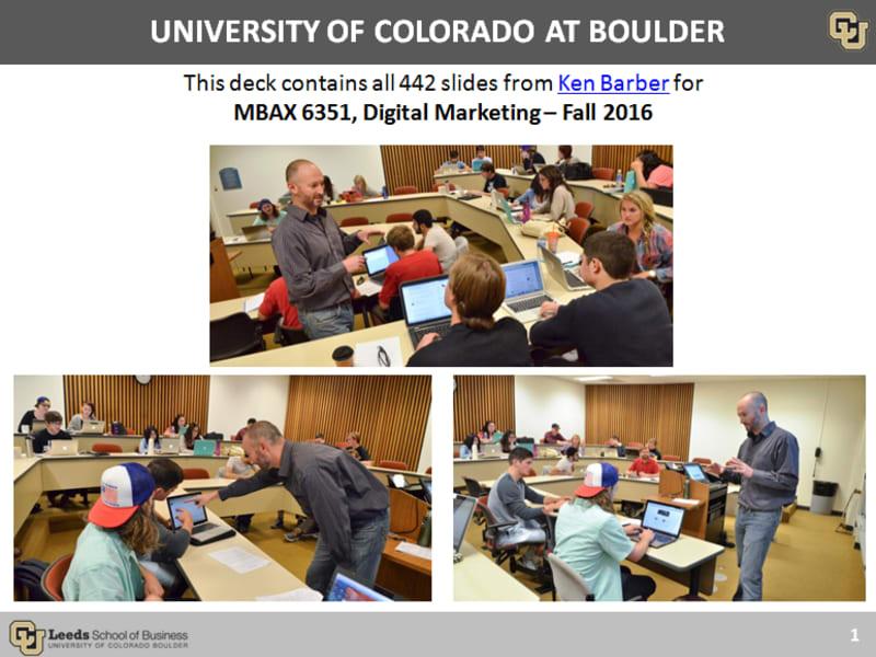 CU Boulder - Digital Marketing Class