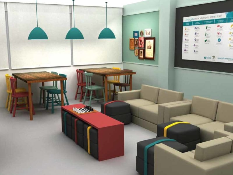 Breakroom space for employees
