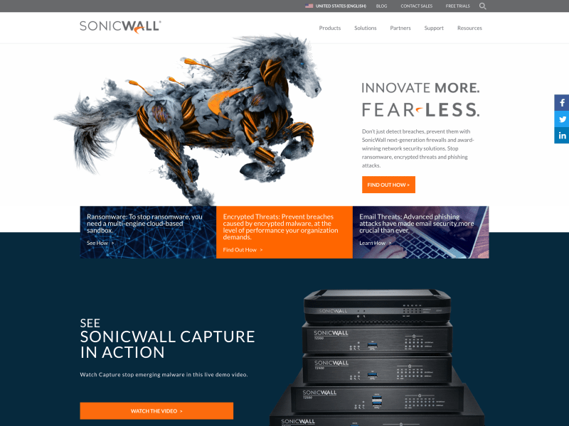 SonicWall New Site Launch