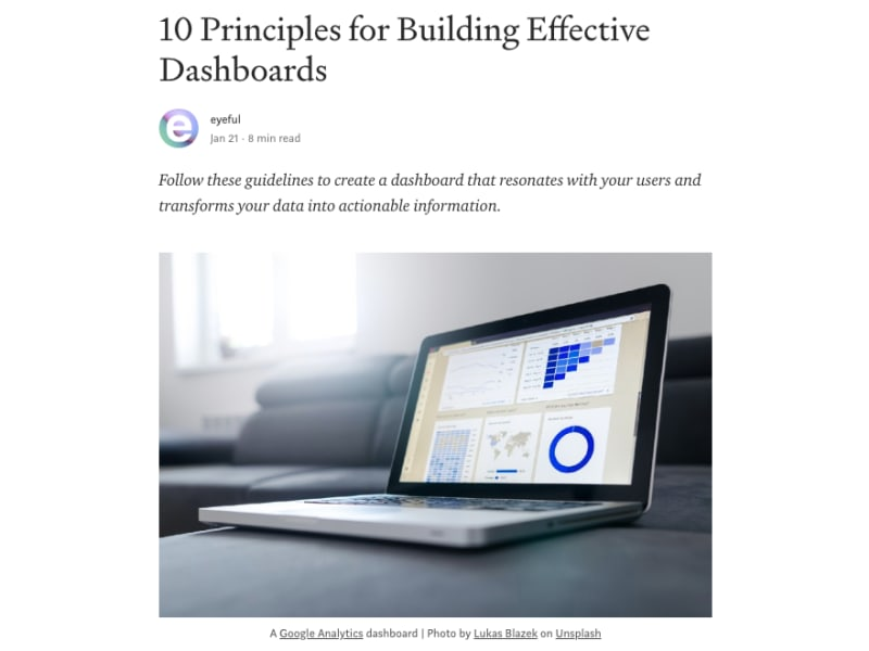 10 Principles for Building Effective Dashboards