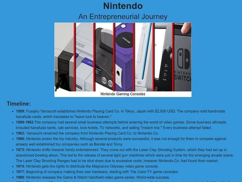 Nintendo Tribute Page