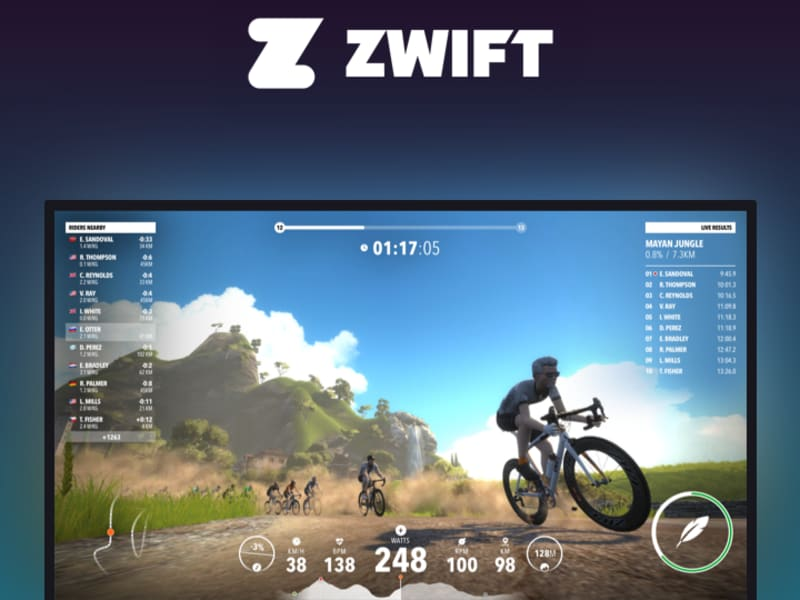 Zwift Cycling App Redesign