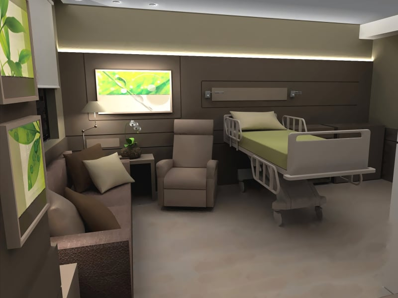Healthcare Design - Luxury patient room concept