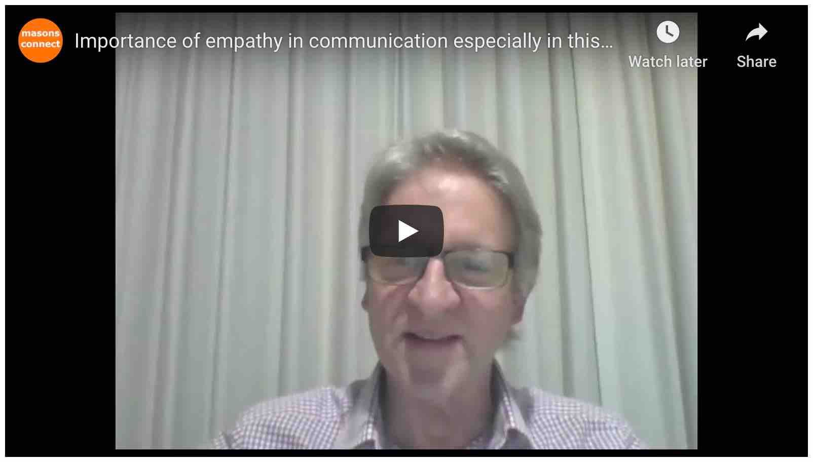 Importance of empathy in communication, especially in this time of digital transitioning