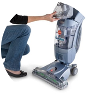 A photograph of the FloorMate, Hoover's solution to optimum cleaning to hard floors.