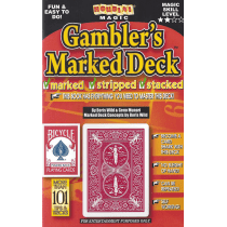 Gambler's Marked Deck- Bicycle Maiden Back