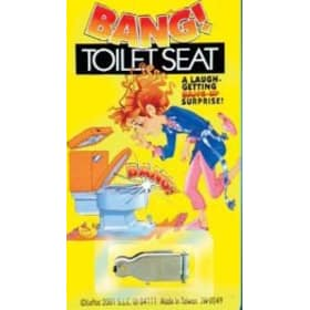 Bang Toilet Seat W/Caps