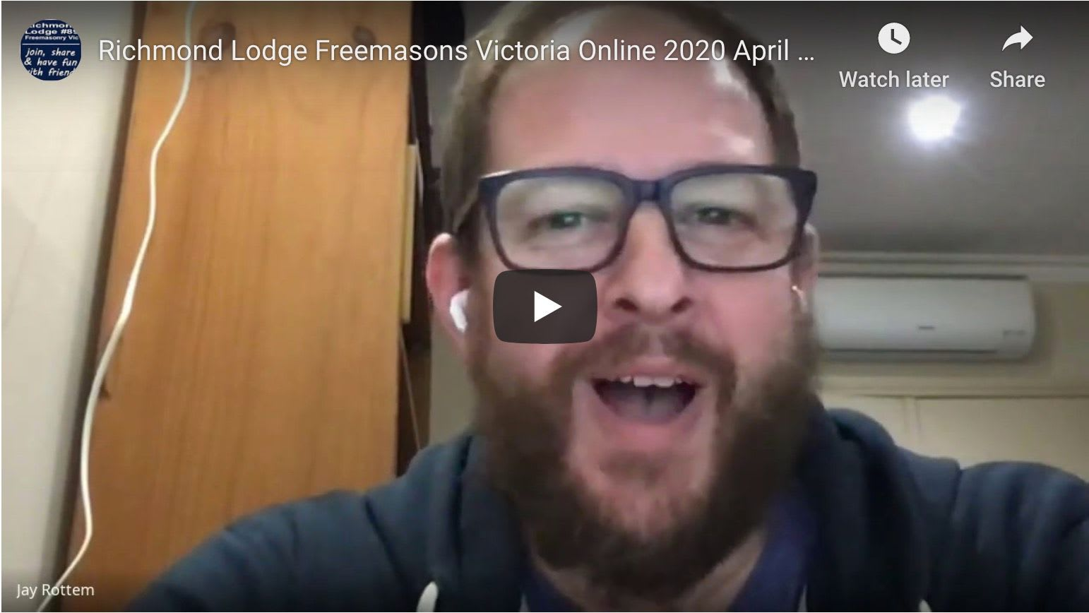Richmond Lodge Online April 21, 2020 - list of online lodge meetings and the Order of the Amaranth