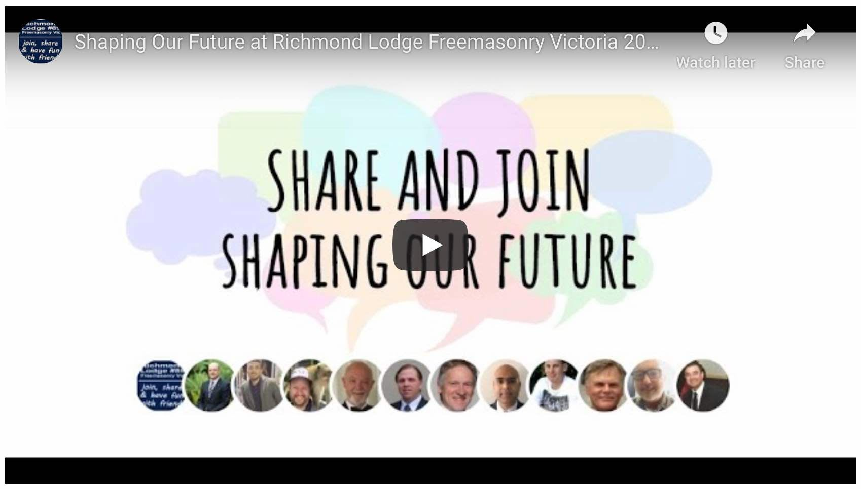 Watch shaping Our Future at Richmond Lodge 2020